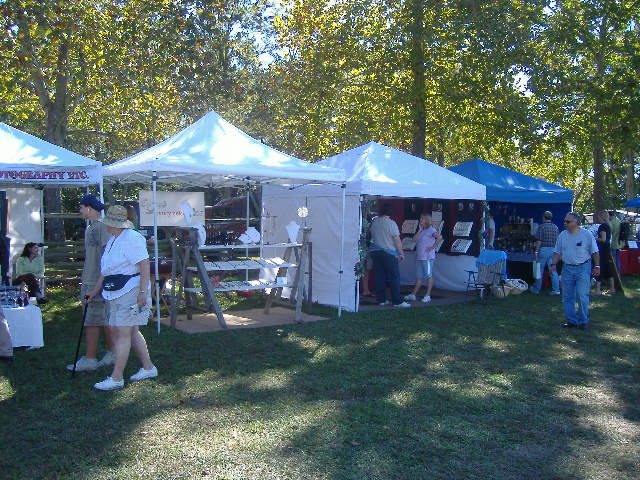 Jewelry, knickknacks, and crafts; the usual arts festival sort of fare.