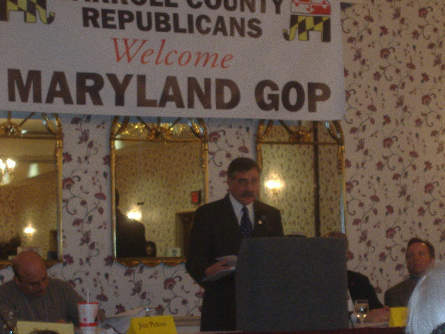 Maryland GOP Chair Jim Pelura making remarks to the convention.