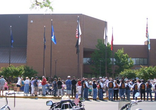 The site of the 2006 Memorial Day ceremony, Salisbury, Maryland.