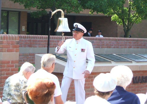 Ringing a bell to honor our fallen servicemen.