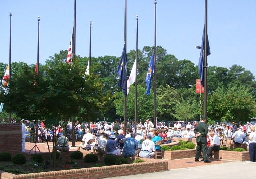 Some of the onlookers at the 2006 Memorial Day service.