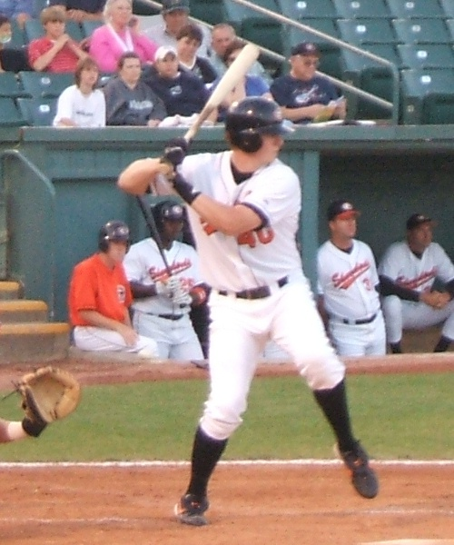 CJ Smith of the Shorebirds strides into a pitch in a June contest against Lakewood.