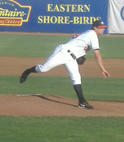 Josh Tamba follows through with a pitch in a May 24 game. Tamba started and lost this one to Lake County.
