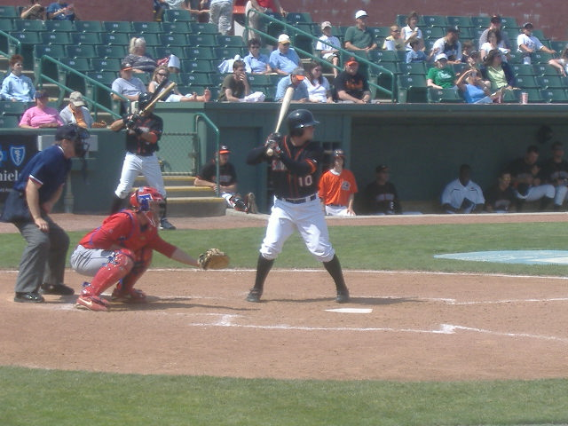 Stu Musslewhite at the plate in a recent game aginst Lakewood.