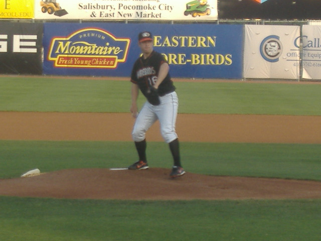 Zach Clark makes his home debut in this picture, July 17 against Hickory.