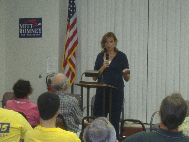 Cathy Bassett, District and Communications Director, served as the pinch-hitter for Congressman Wayne Gilchrest.
