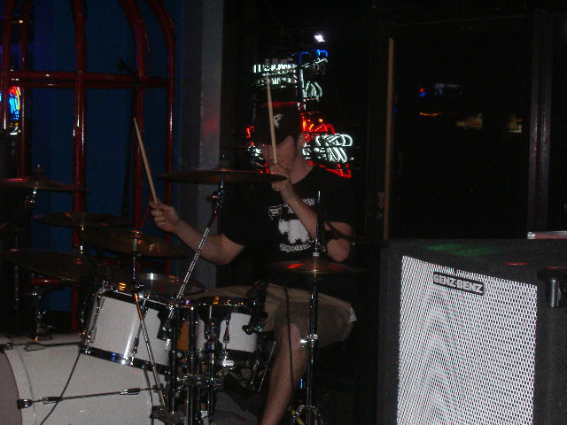 I actually got two decent shots of Chris on the drums, which is a shock to me because drummers are hard to get pictures of.
